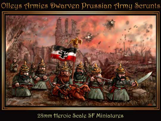 olleys armies, 2nd kickstarter Dwarven Prussian Army Scrunts