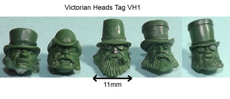 olleys armies victorian heads tag
