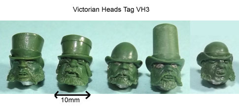 olleys armies victorian heads tag 3