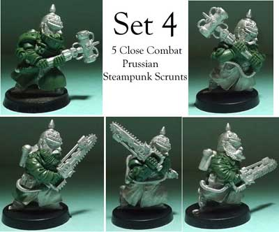kickstarter two set 4 close combat prussian steampunk scrunts
