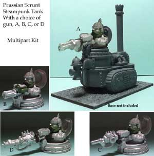 kickstarter two prussian steampunk tank type 1